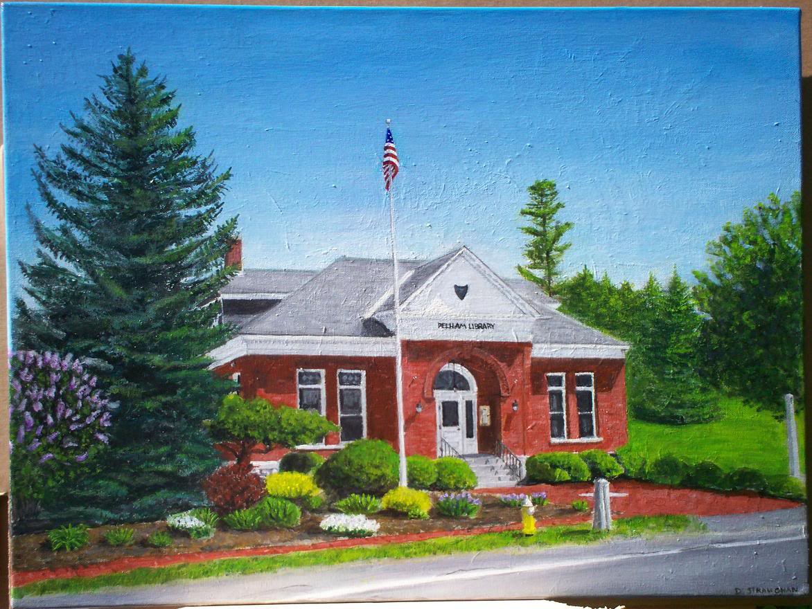 The old pelham public library in pelham nh 18 x 24 for The pelham