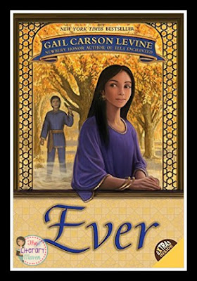 In Ever by Gail Carson Levine, Kezi and Olus are young, playful, and in love. The only problem is that Kezi is mortal and fated to die while Olus, god of the winds, can't live among humans.