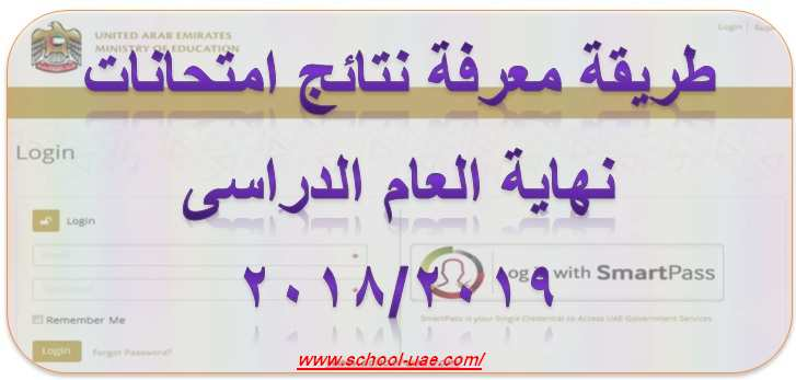 خطوات الحصول على نتائج امتحانات مدارس الامارات