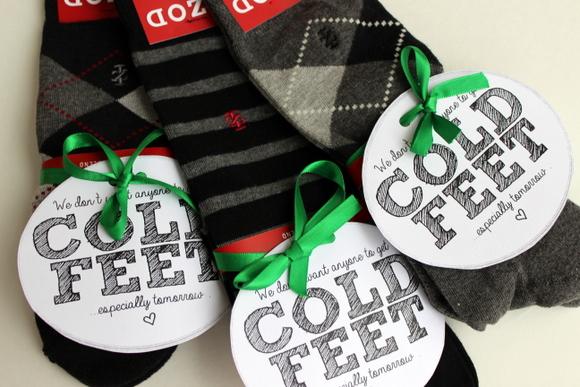 Groomsmen Socks with cute Printable was our easy DIY groomsmen gift idea.  |DIY Playbook
