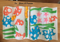 Fondant corals for Sea Cake