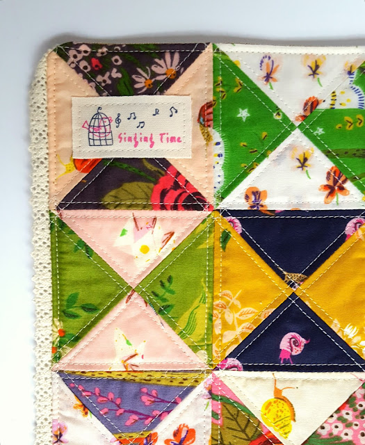 Quilt Petite Floral Mug Rugs sewn by Heidi Staples of Fabric Mutt