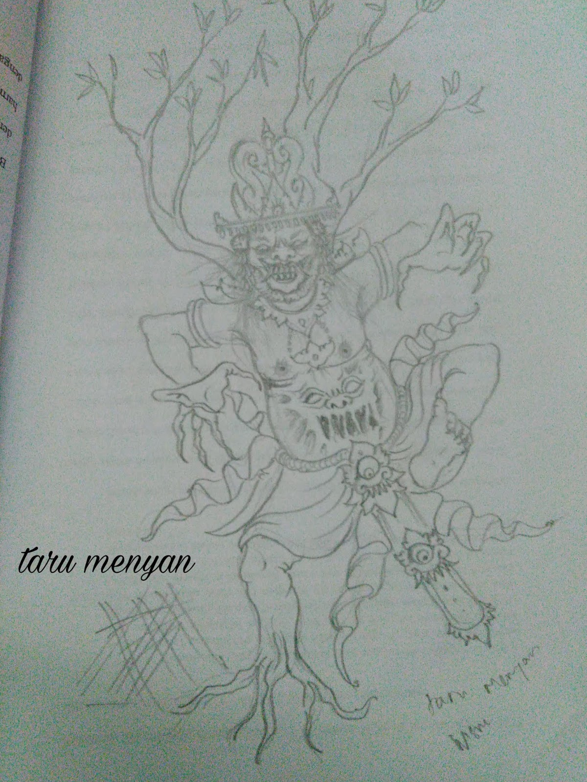 Mewarnai Gambar Sketsa Ogoh Ogoh Terbaru KataUcap