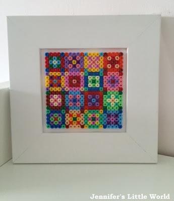 Hama bead quilt picture