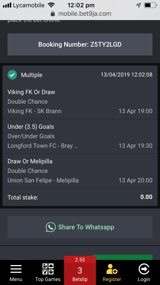 ANALYSED FOOTBALL PREDICTIONS: Bet of the Day 13/4/2019
