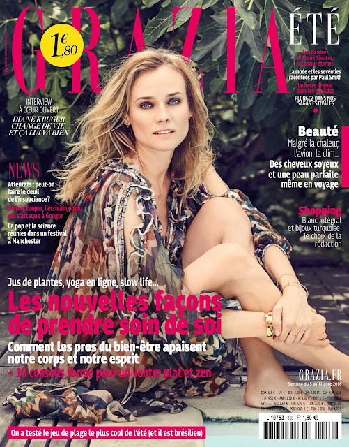 Actress, Model, @ Diane Kruger Fred Meylan for Grazia France August 2016