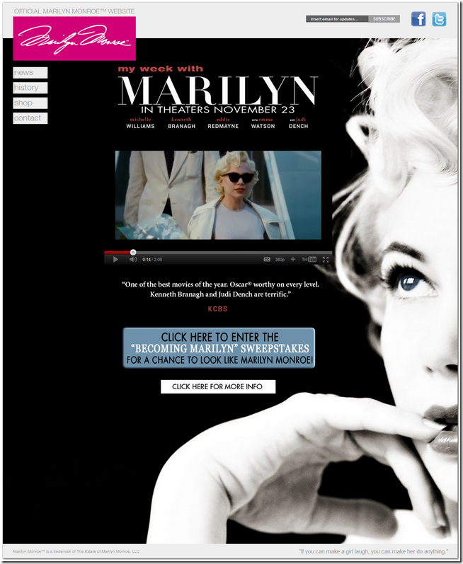 go to OFFICIAL WEBSITE MarilynMonroe.com