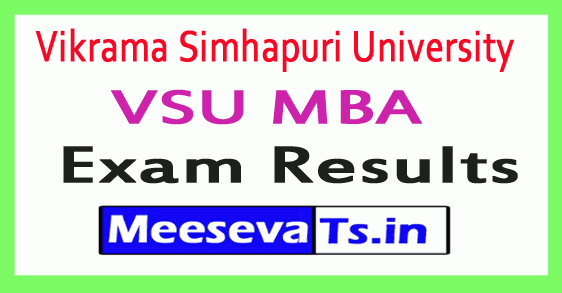 Vikrama Simhapuri University VSU MBA Exam Results