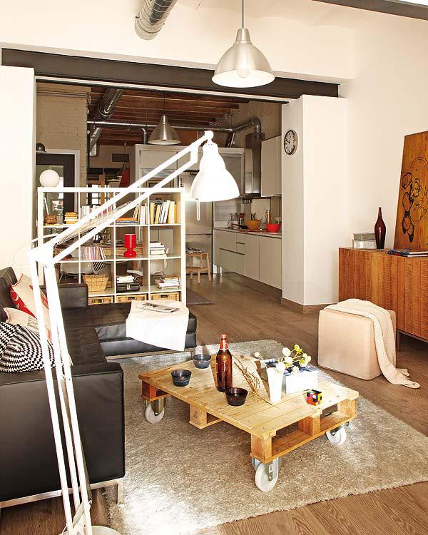 Very Small Studio Apartment: Decor&Me: UN PEQUEÑO APARTAMENTO CON EL NARANJA COMO
