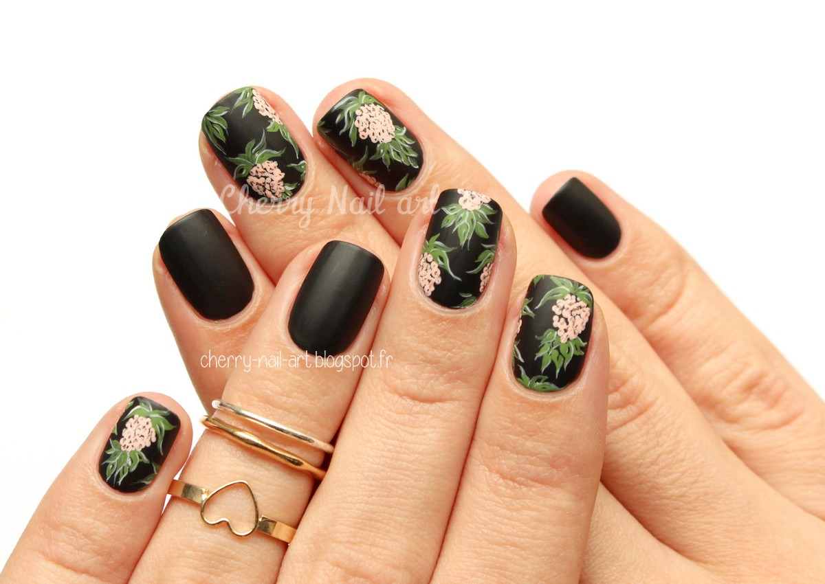 nail art ananas stylisé mode robe h&m