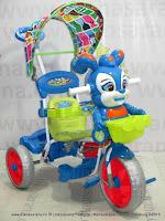 Sepeda Roda Tiga Royal RY19882C Musik Dobel Baby Roy Ban Jumbo Kanopi
