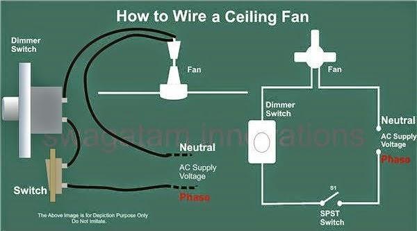 how to connect ceiling fan without regulator www
