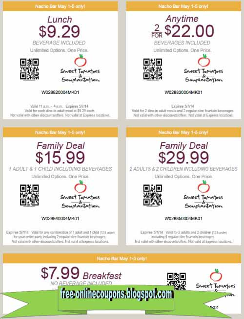 Sweet tomatoes coupons 2019