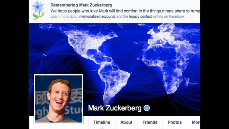 CEO Facebook Mark Zuckerberg dianggap meninggal