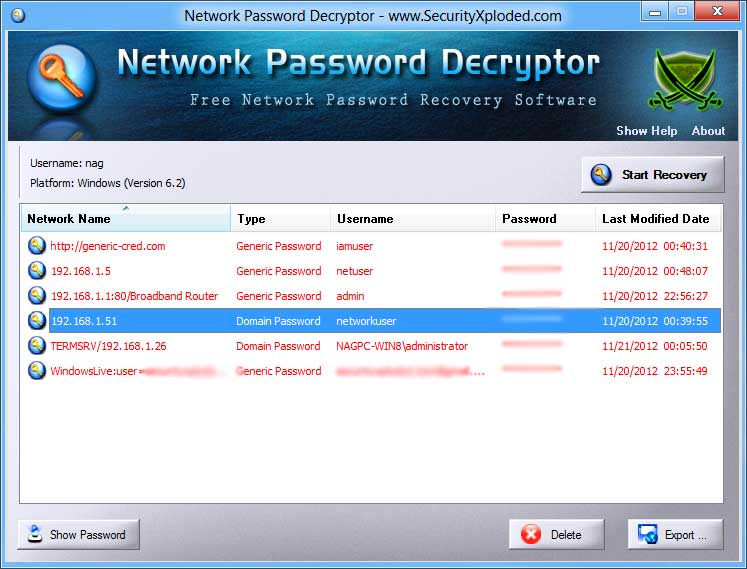 Network Password Decryptor v3 0] Tool to Recover Network Passwords