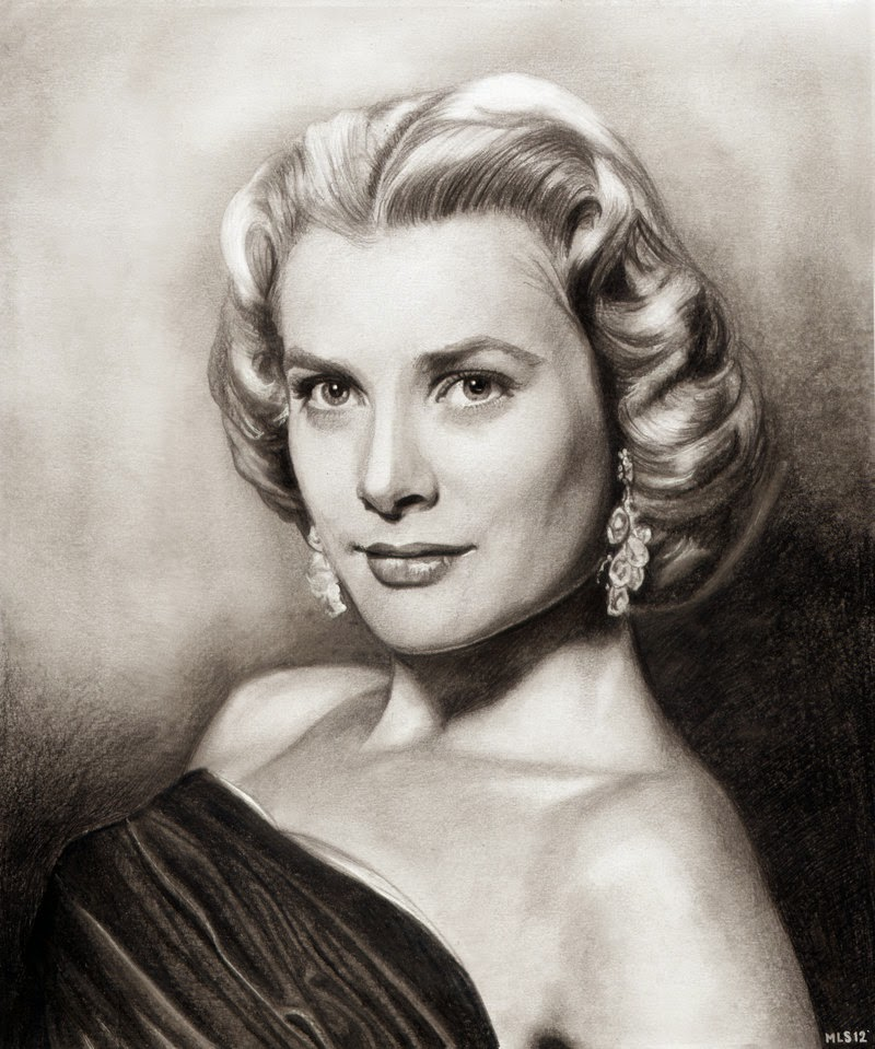 12-Grace-Kelly-Martin-Lynch-Smith-MLS-art-Celebrity-Drawings-www-designstack-co