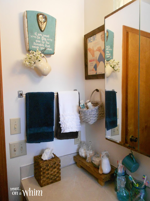 Vintage Farmhouse Bathroom Makeover | Denise on a Whim