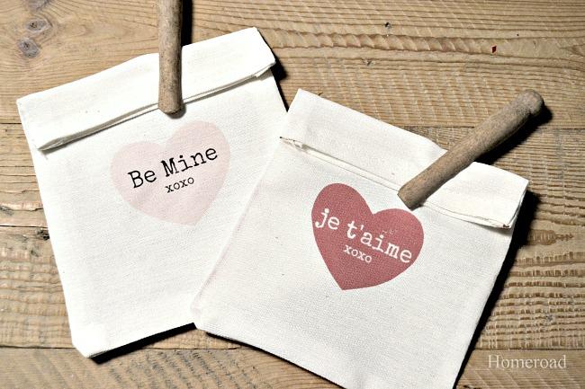 Valentine DIY Heart Treat Bags
