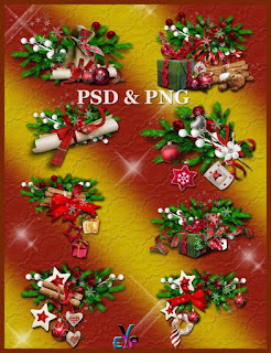 Season greeting clipart for Chrismas 2017 png & psd