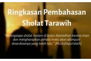 Penjelasan  Shalat Tarawih 8 Raka'at Dan 20 Raka'at Serta Cara Pelaksanaannya.