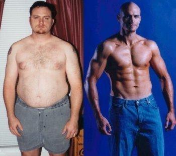 Antes e Depois - Homem