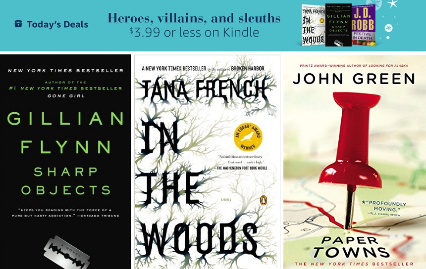 Gillian Flynn Sharp Objects, In The Woods Tana French, Paper Towns John Green - all on sale!