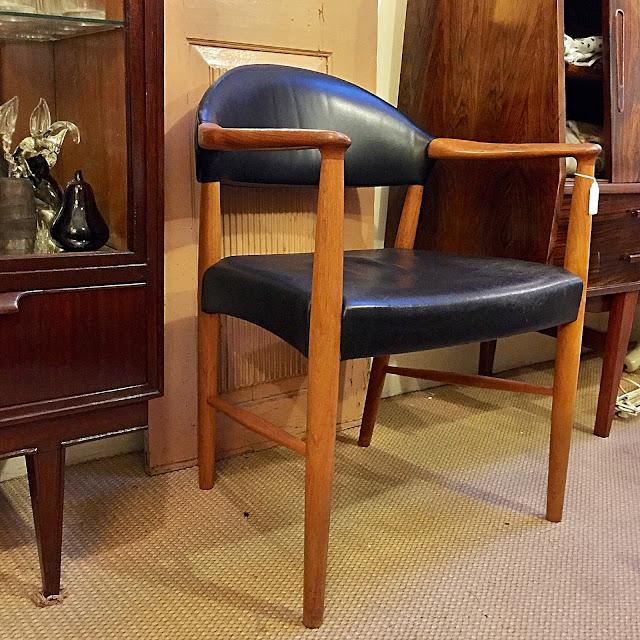 cadeira, braços, vintage, nórdica