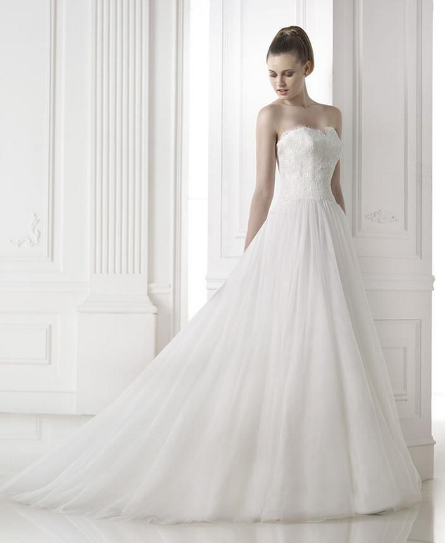 """c4739b4fba10 """"Mena"""" from the Spring 2015 Pronovias Collection (Glamour Collection)   A-line tulle"""