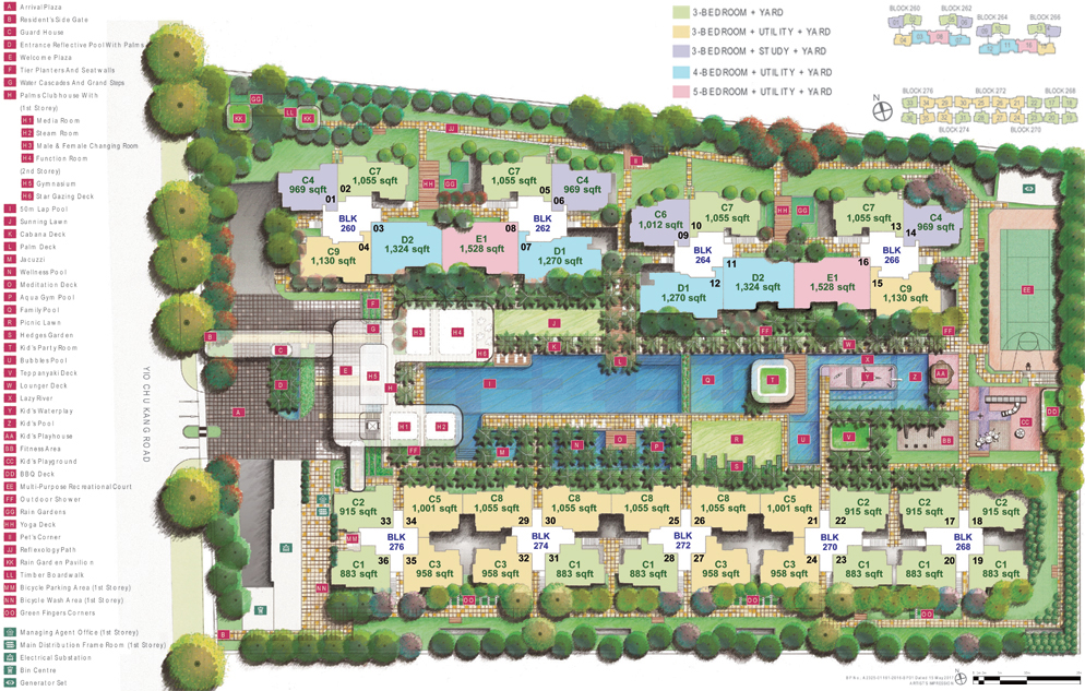 Hundred Palms Residences Site Plan