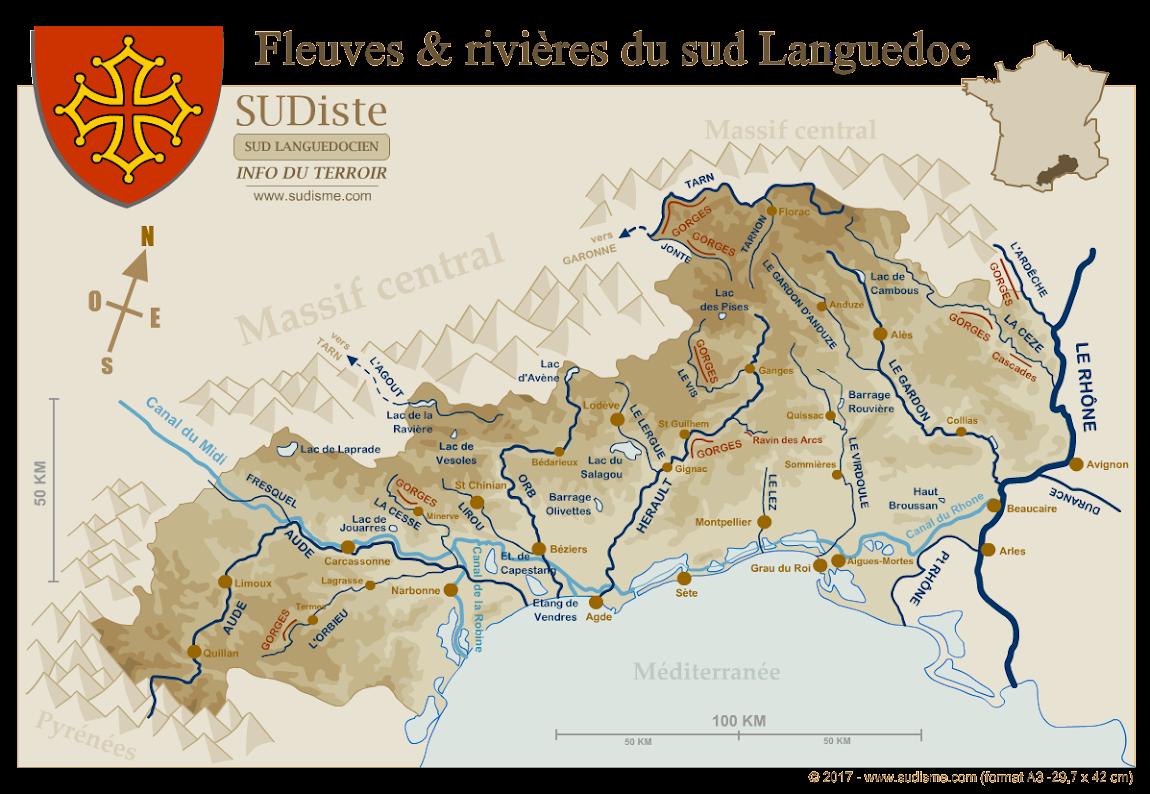 Fleuves et rivières du Languedoc