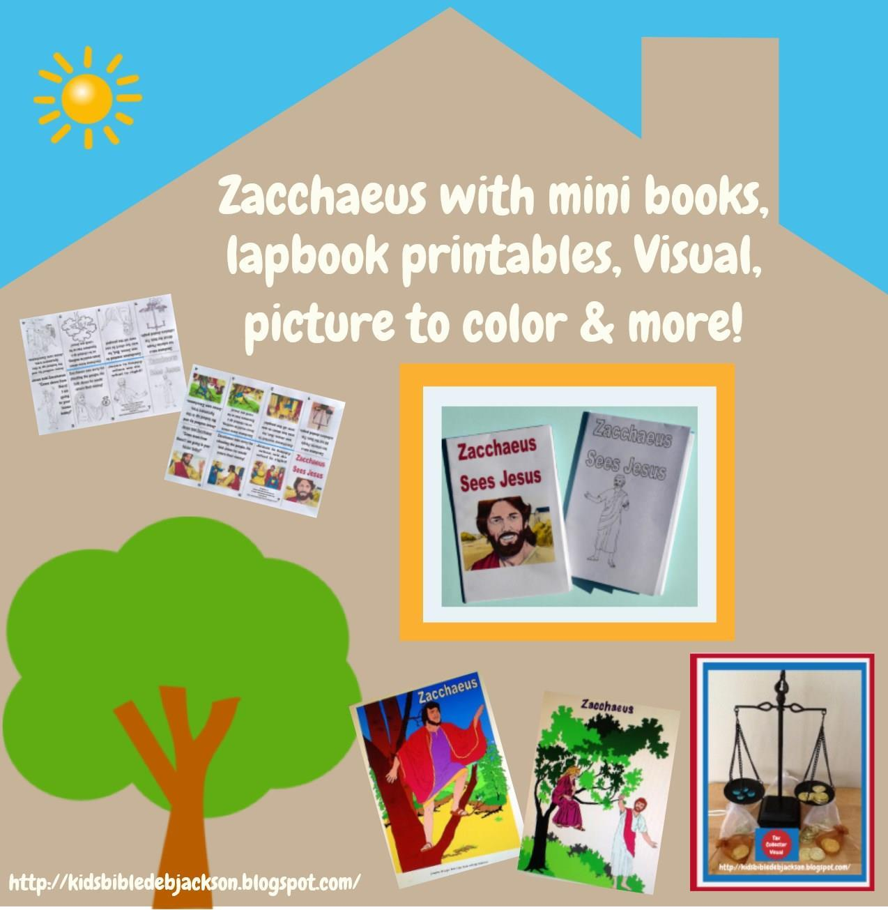 Bible Fun For Kids Zacchaeus