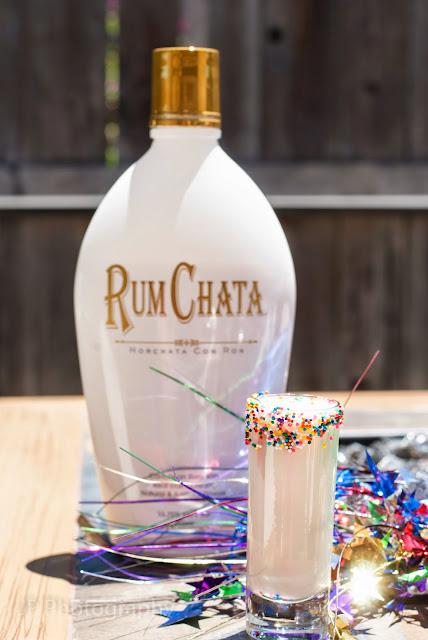 confetti cocktail, rum chata, cake vodka