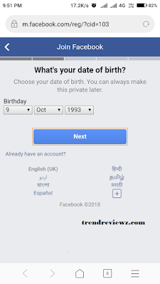 Facebook Sign Up Process - How To Sign Up On Facebook