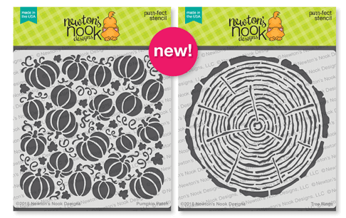 Pumpkin Patch and Tree Ring Stencils | 6x6 Premium Stencils by Newton's Nook Designs #newtonsnook