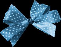 Laço azul de bolinha