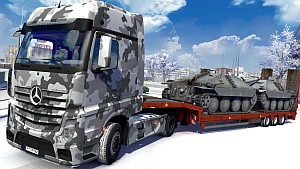 Army Winter skin for Mercedes MP4