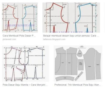 Belajar membuat pola pakaian