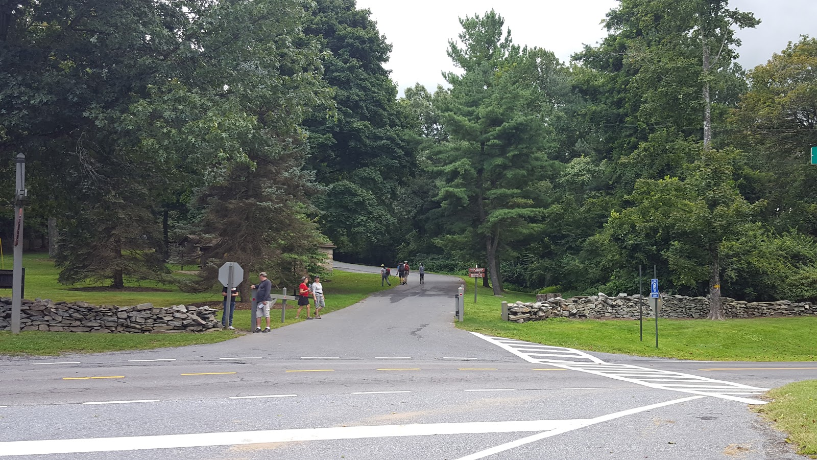 While heading toward the trail stop by