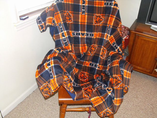 completed Chicago Bears blanket