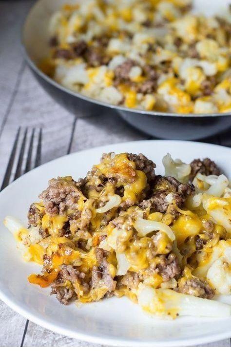 Cauliflower And Ground Beef Hash Recipe
