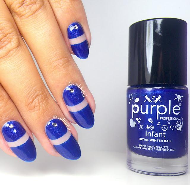 Royal Blue Negative Space Nails