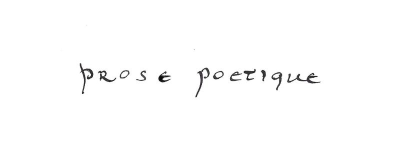prose poétique