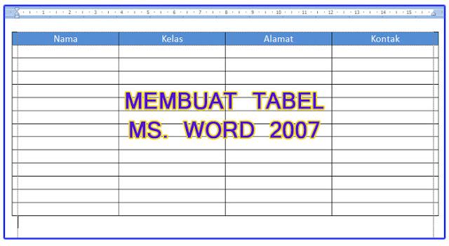 Cara membuat tabel di Microsoft Word. Word 2007