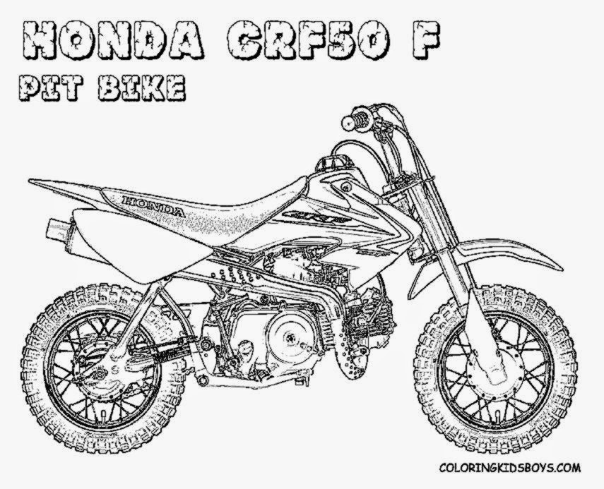 Suzuki Dirt Bike coloring page | Free Printable Coloring Pages | 693x855
