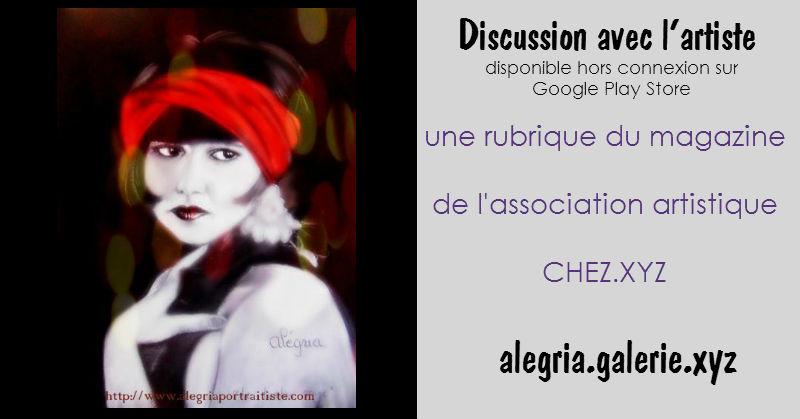 Discussion avec Alegria artiste de la Galerie.xyz
