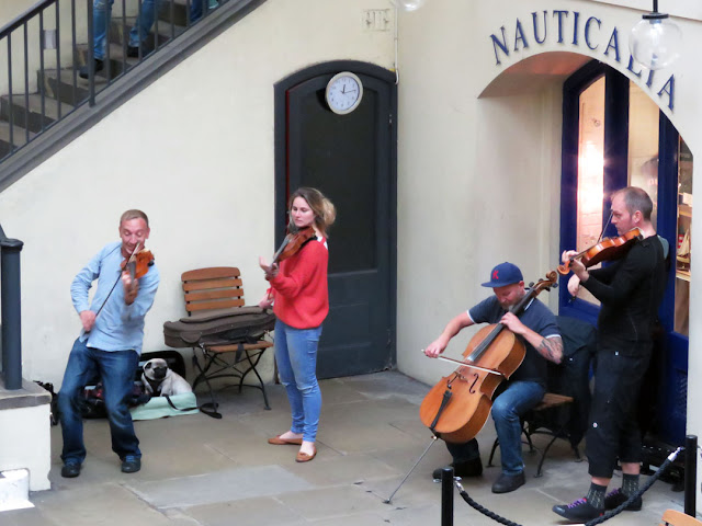 Four musicians playing, Market Building, Covent Garden, London