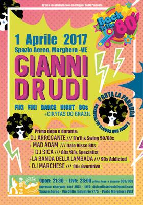 Gianni Drudi allo Spazio Aereo il 1° aprile 2017