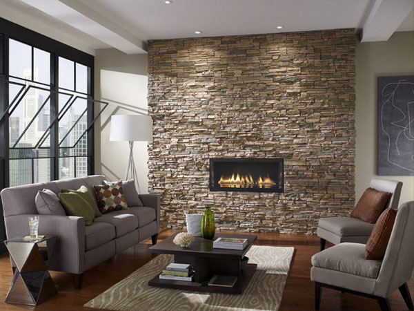 d co salon mur en pierre. Black Bedroom Furniture Sets. Home Design Ideas
