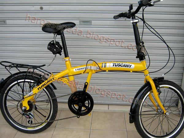 Jual Sepeda Lipat Genio Tuscany Mantab Kaya Dahon