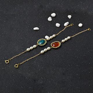 9f33d2854936 Accesorios de Moda: Brazalete de cuentas de piedras preciosas de ...
